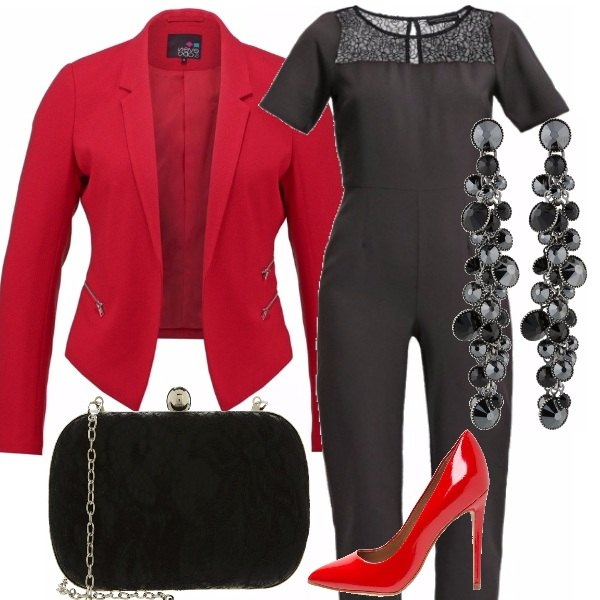 Outfit Woman in red!
