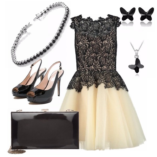 Outfit Cerimonia bianco e nero