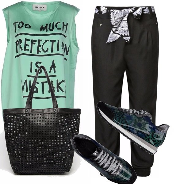 Outfit Verde nero