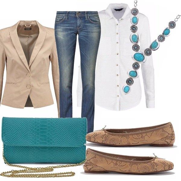 Elegante anche in jeans outfit donna Trendy per scuola/universit e ufficio | Bantoa