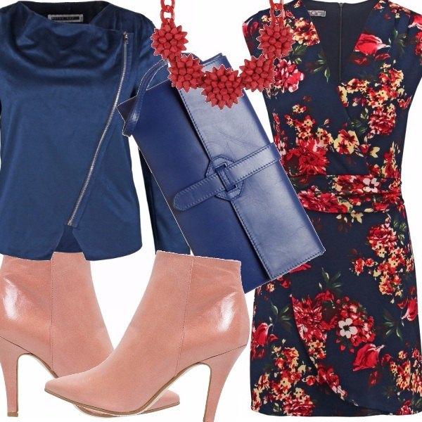 Outfit Deep floral blue
