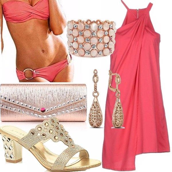 Outfit Serata scintillante in piscina