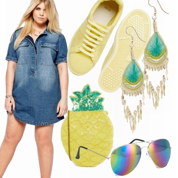 Outfit Minidress denim!