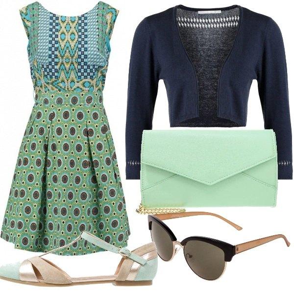 Outfit Blu & verde acqua