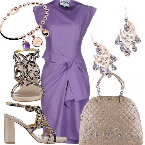 Outfit Il tubino ametista