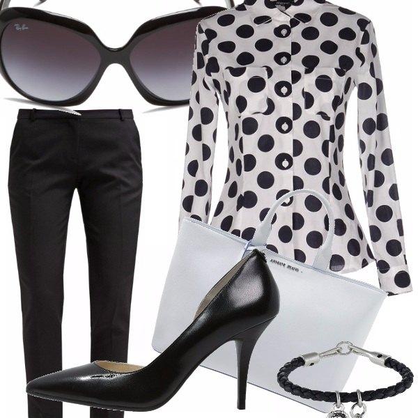 Outfit Bianco e nero per l'ufficio