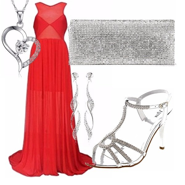 Outfit Rosso amore