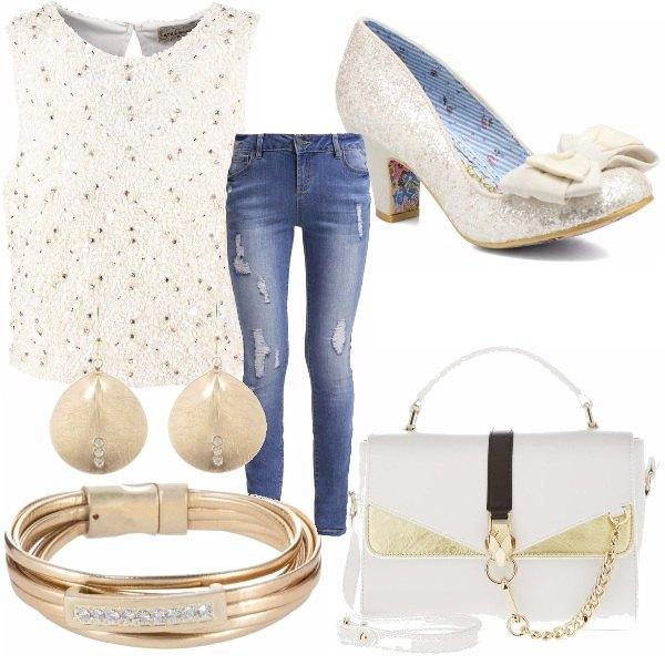 Outfit Panna e oro