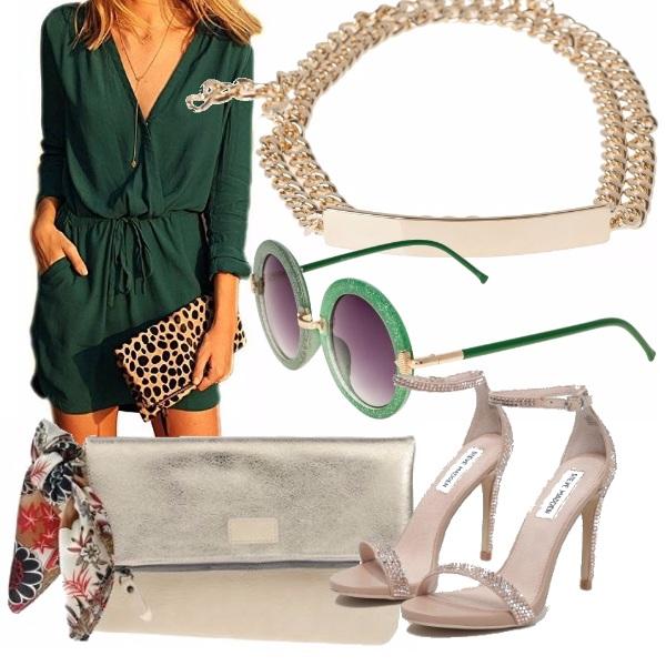 Outfit Oro e verde