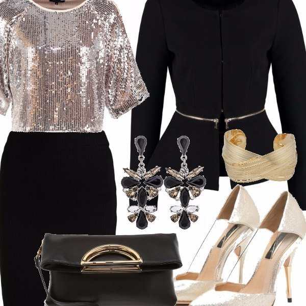 Outfit Gold and black