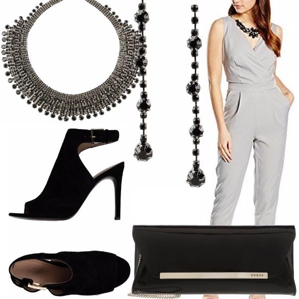 Outfit Aperitivo in grigio e nero