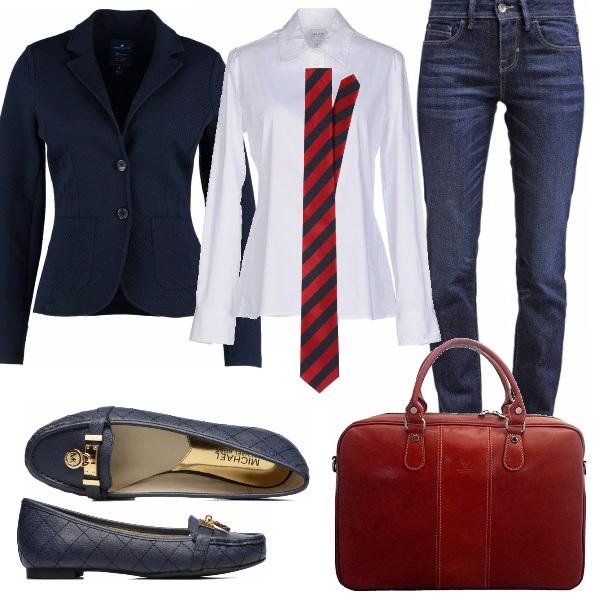 Outfit Si parte per il college!