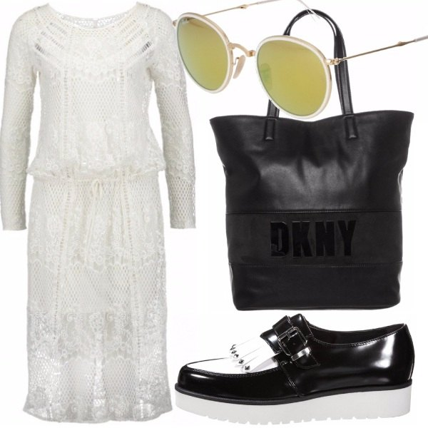 Outfit Ricami black/white