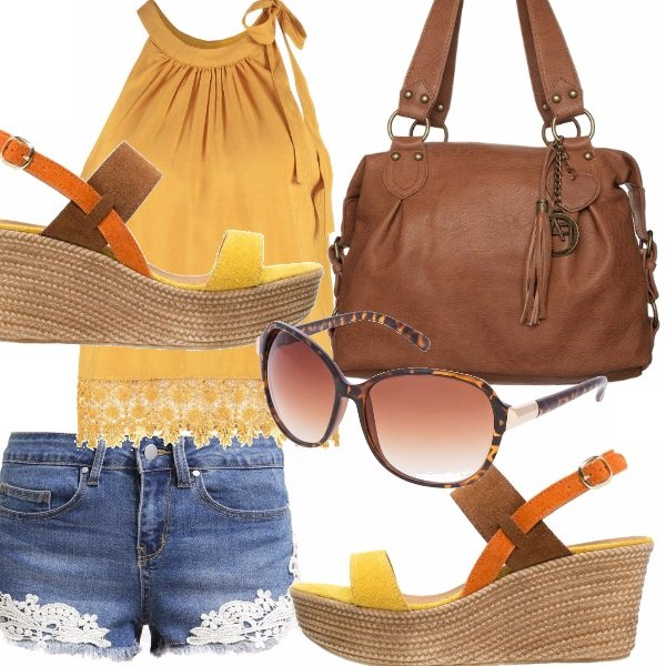 Outfit Shorts e zeppe