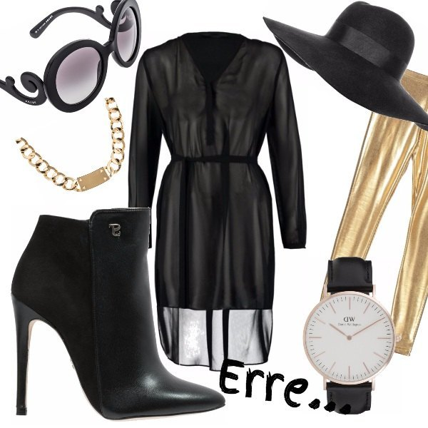 Outfit Black and Gold...
