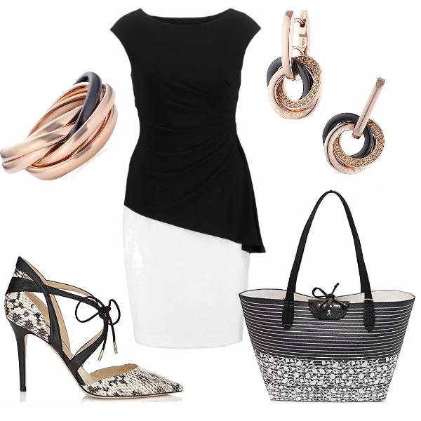 Outfit Il nero ed il bianco