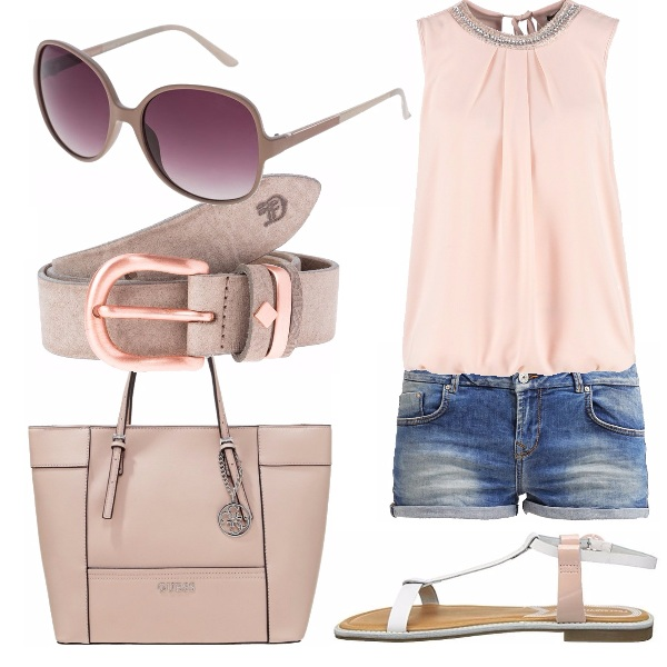 Outfit Rosa cipria chic