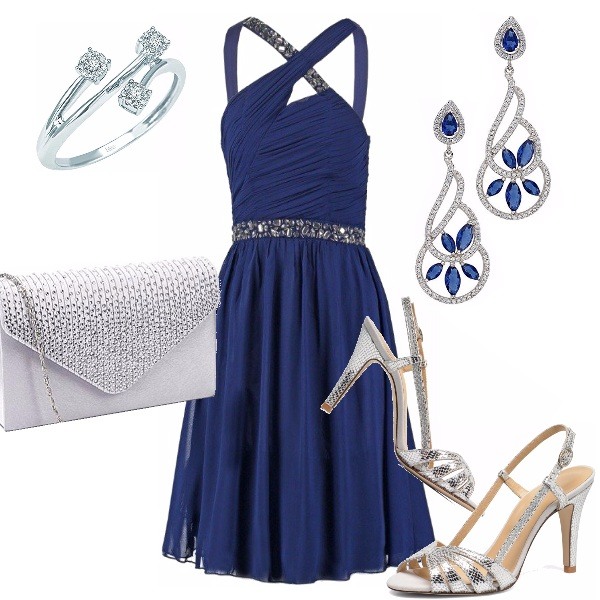 Outfit Blue and silver