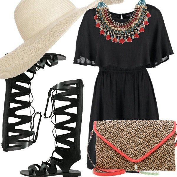 Outfit Boho in black