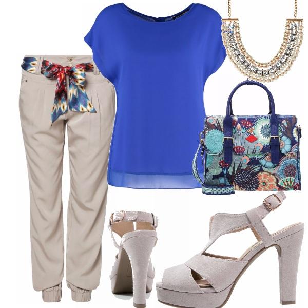 Outfit Beige e snorkel blue