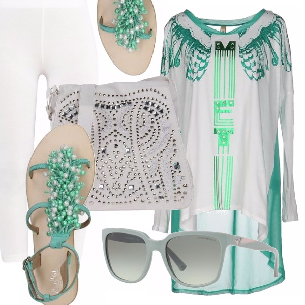 Outfit Verde & bianco