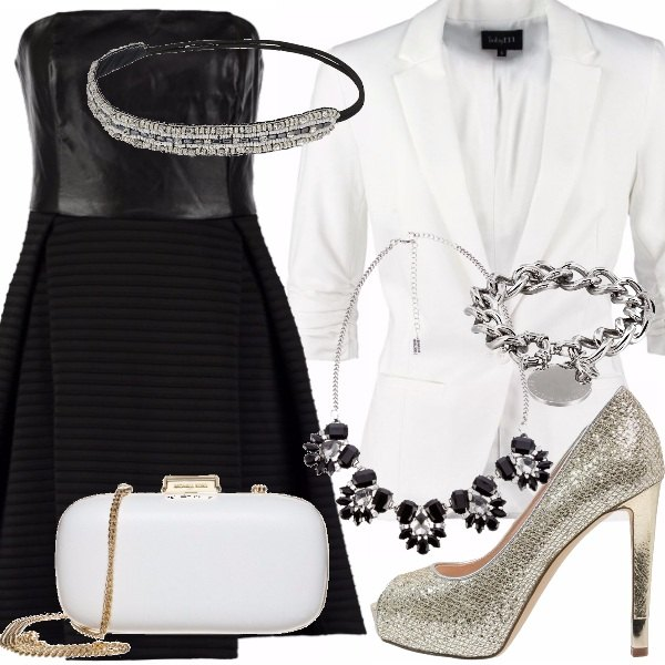 Outfit White end black