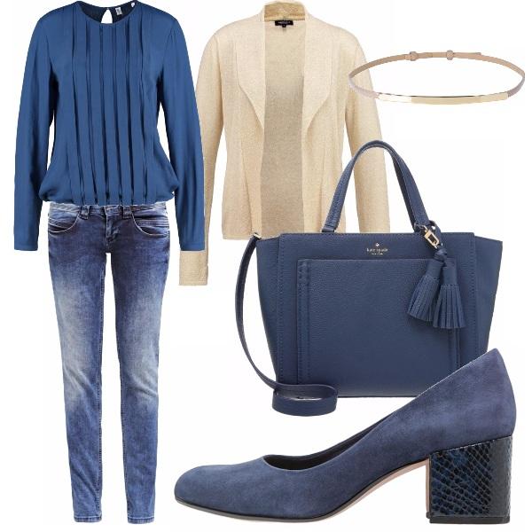 jeans in ufficio outfit donna basic per scuola universit