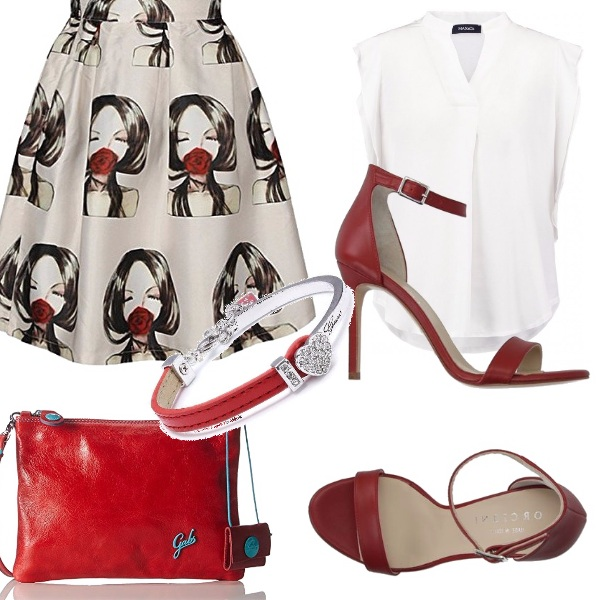 Outfit Rosso d'esate