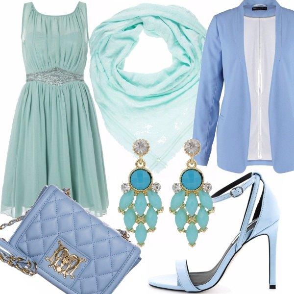 Outfit Il leggero fascino del turchese