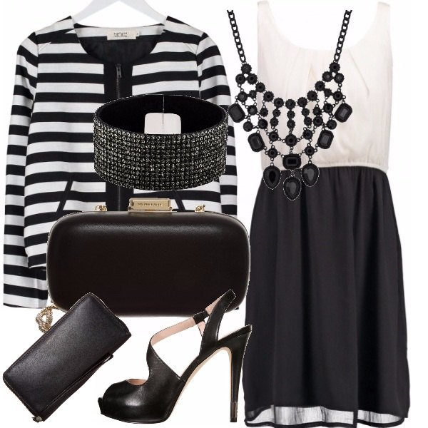 Outfit Eleganza in bianco-nero