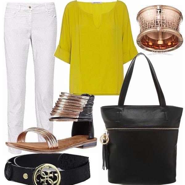 Outfit Oro e bronzo