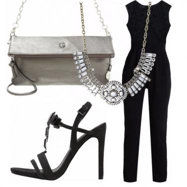 Outfit Eleganza black e argento!