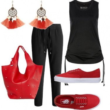 Outfit Snealers rosse