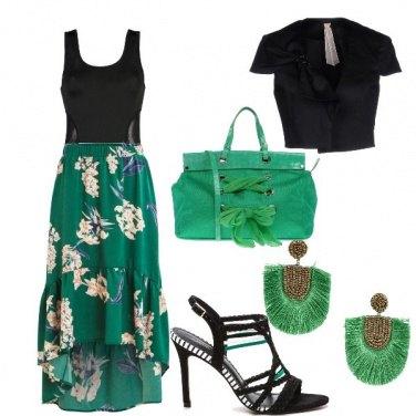 Outfit Verde e nero......