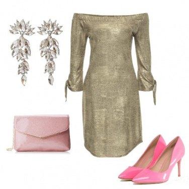 Outfit Oro e rosa
