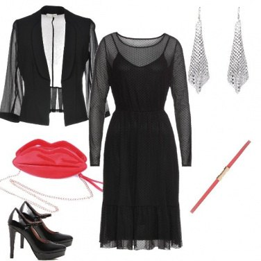 Outfit Red lips bag