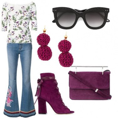 Outfit Color prugna