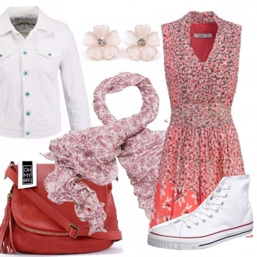 Outfit Flower red