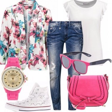 Outfit Denim & flower