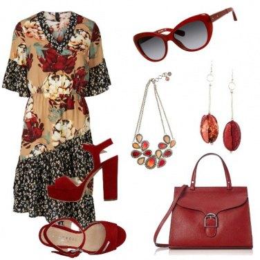 Outfit Rosso bon ton