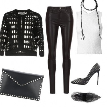 Outfit Rock black & White