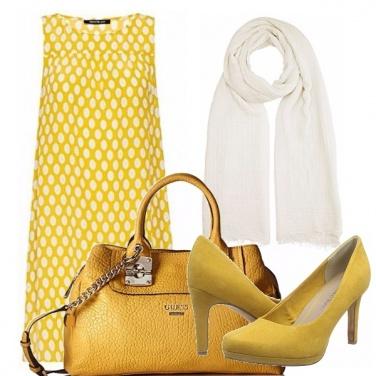 Outfit Giallo e pois