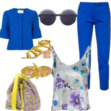 Outfit Capri blu