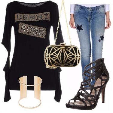 Outfit Nero e oro Denny