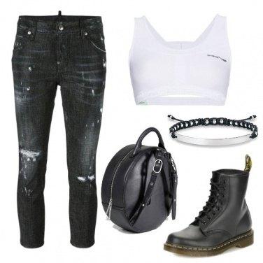 Outfit Dr Martens rock