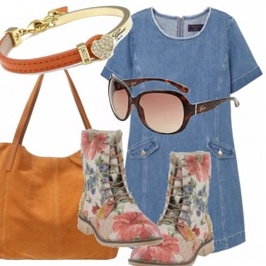 Outfit Curvy in denim e..