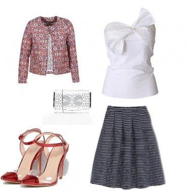 Outfit Un elegante tocco di rosso