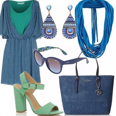 Outfit Verde&blu