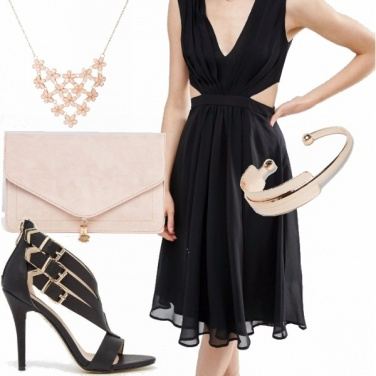 Outfit Serata in black and rose