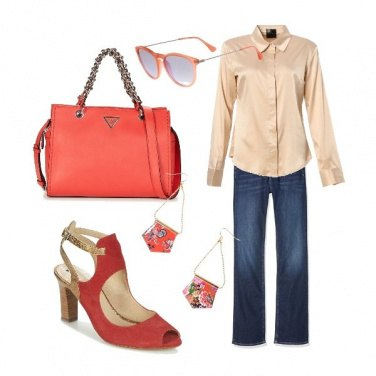 Outfit Fragole e jeans